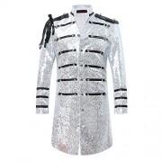 Mens 2-Piece Suit Fashion Sequin Party Prom Dinner Blazer Tuxedo Jacket Trousers - Sakoi - $75.99  ~ 65.27€