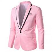 Mens Casual Slim Fit Suit Jacket 1 Button Daily Blazer Business Sport Coat Tops - Košulje - kratke - $29.99  ~ 25.76€