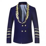 Mens Dress Jacket Double Breasted Shawl Collar Tuxedo Dinner Blazer Wedding Party Prom - Košulje - kratke - $38.99  ~ 33.49€