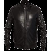 Mens MA1 Black Aviator Sheepskin Leather Flight Jacket - Jacket - coats - 203.00€  ~ $236.35