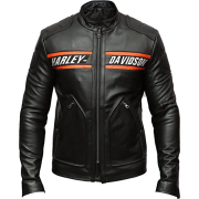 Mens Motorcycle Bikers Black Leather Jacket Outfit - Jacket - coats - 216.00€  ~ $251.49