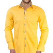Men's yellow shirt (Anton Alexander) - Shirts -