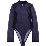 Mesh perspective one-piece clothes machi - Overall - $25.99