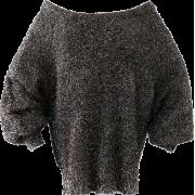 Metallic Long Sleeve Mohair Sweater - Pullovers - $49.99