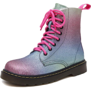Metallic Rainbow Lace Up Martin Boots - Stiefel - $55.99  ~ 48.09€