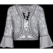 Metme Sequin Jacket Open Front Glitter - Cardigan - $25.99