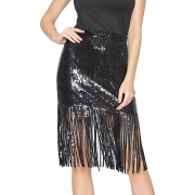 Metme Women's Sequin Skirt Sparkly - Skirts - $31.99