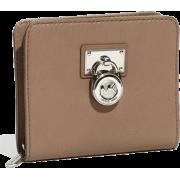 Michale Kors Hamilton Medium Leather Zip Around Wallet Cement - Кошельки - $118.99  ~ 102.20€