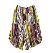 Minibee Women's Colorful Printed Loose Ethnic Wide Leg Pants - Pants - $50.00