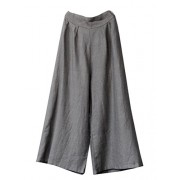 540032b624ede8 Minibee Women s Loose Cotton Wide Leg Pants Solid Color Linen Trousers -  Pants -  87.50