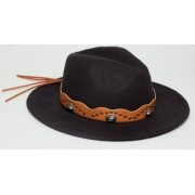 Федора с отделкой в стиле вестерн Missgu - Hat -
