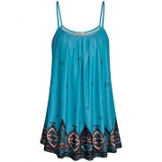 Miusey Women Summer Casual Flowy Sleeveless Camisole Tank Tops - Shirts - $49.99