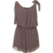 Moka Layered Chiffon play Suit - Dresses - £12.49