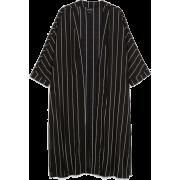 Monki black flowy kaftan - 开衫 -