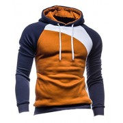 Mooncolour Men's Casual Pullover Long Sleeve Hoodies Outwear - Shirts - $9.99