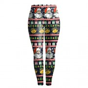 Mooncolour Womens Christmas Printing Stretch Skinny Leggings - Pants - $9.99