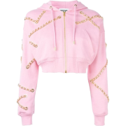 Moschino- Cropped sweatshirt with chains - Pullovers -