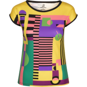 Multi Colored Geometric Print T-Shirt - T-shirt - $46.00  ~ 39.51€