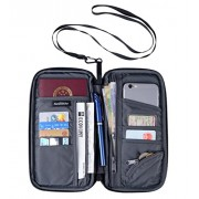 Multipurpose Neck Travel Wallet Passport Wallet Holder Travel Organizer Clutch Women&Men - Akcesoria - $18.88  ~ 16.22€