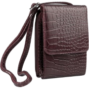 Mundi Lighten Up Croco Wallet BROWN - Wallets - $24.50