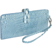 Mundi Yoko Clutch Wallet Blue - Wallets - $33.25