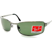 NEW RAYBAN RAY BAN RB 3269 004/58 POLARIZED GREEN & GUNMETAL FRAMR SIZE 63-18-125 SUNGLASSES - Sunglasses - $184.95