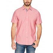 Nautica Men's Short Sleeve Signature Print Button Down Shirt - Shirts - $59.50