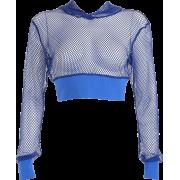 Net yarn hollow waist hooded short casua - Shirts - $17.99