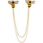 New Cute Diamond-encrusted Pair Of Small Bee Brooches Nhmo323433 - Other jewelry - $11.04  ~ 9.48€