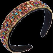 New Fashion Baroque Style Color Drill Headband Wide Side Cheap Headband - 其他 -