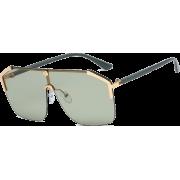 New Fashion One-piece Sunglasses Explosion Style Fashion Large Frame Sunglasses - Sunčane naočale -