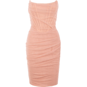 Nightclub off-the-shoulder word neck mesh wrap chest skirt dress - Vestidos - $27.99  ~ 24.04€