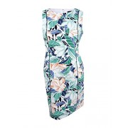 Nine West Women's Floral-Print Piped Sheath Dress (12, Sea Glass Multi) - Dresses - $89.00
