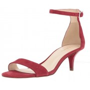 Nine West Women's Leisa Su Suede Heeled Sandal, Red, 10.5 M US - Sandals - $60.69