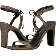 Nine West Women's Longitano Fabric Heeled Sandal, Black Natural Fabric, 9.5 Medium US - Sandals - $44.50