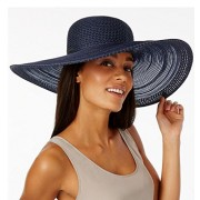 Nine West Women's Open Work Sheer Super Floppy Packable Hat Navy Blue One SIze - Hat - $16.97