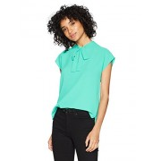 Nine West Women's Solid Crepe Blouse With Tie Front - Shirts - $59.00