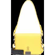 OFF-WHITE Binder Clip leather shoulder b - Carteras -