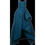 OSCAR DE LA RENTA ruffle draped gown - Dresses -