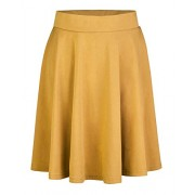 OUGES Women's Basic Stretchy Flared Casual Skater Skirt - Spudnice - $19.99  ~ 17.17€
