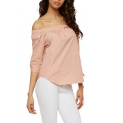 Off the Shoulder Poplin Top - Top - $9.99