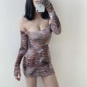 Off-the-shoulder strapless sexy one-piec - Платья - $27.99  ~ 24.04€