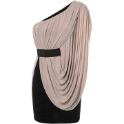 One Shoulder Side Drape Dress - Dresses - £17.99