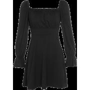 Open back strap long sleeve retro square - Haljine - $25.99  ~ 22.32€