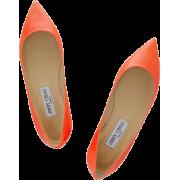 Orange Jimmy Choo Alina Flat - Flats -