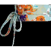 Orange and blue obi belt - Remenje -