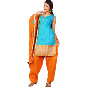 Orange blue salwaar kamiz - People -