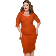 Orange cocktail dress - Dresses -