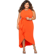 Orange evening dress (Ashley Stewart) - Dresses -