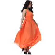 Orange evening dress (Tom Carry) - Dresses -